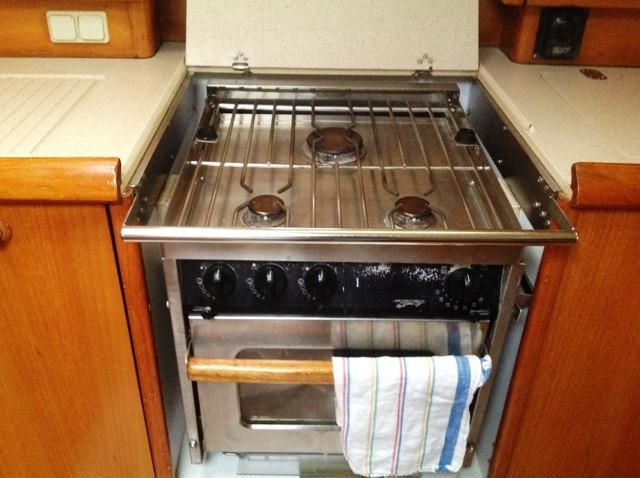 2002 Jeanneau Sun Odyssey 522 - Galley_3-Burner Propane SS Stove & Oven