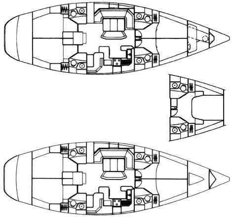 2002 Jeanneau Sun Odyssey 522 - Interior Layout Drawings