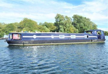2014 Wide Beam Narrowboat Lambon 62' Unique Design
