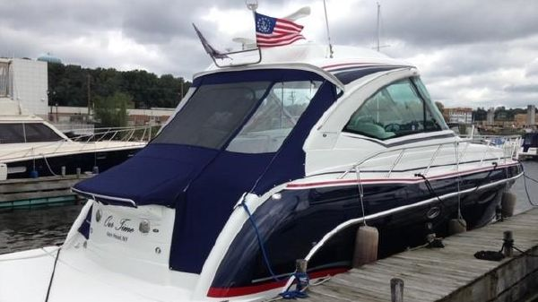 Formula 45 Yacht Starboard Quarter at the dock