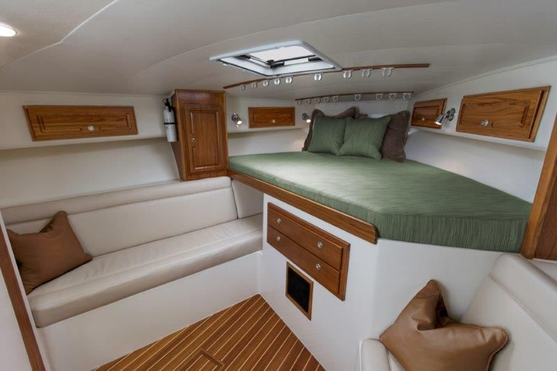 2013 Carolina Classic 32 - Main Cabin - Sofa & Forward Berth