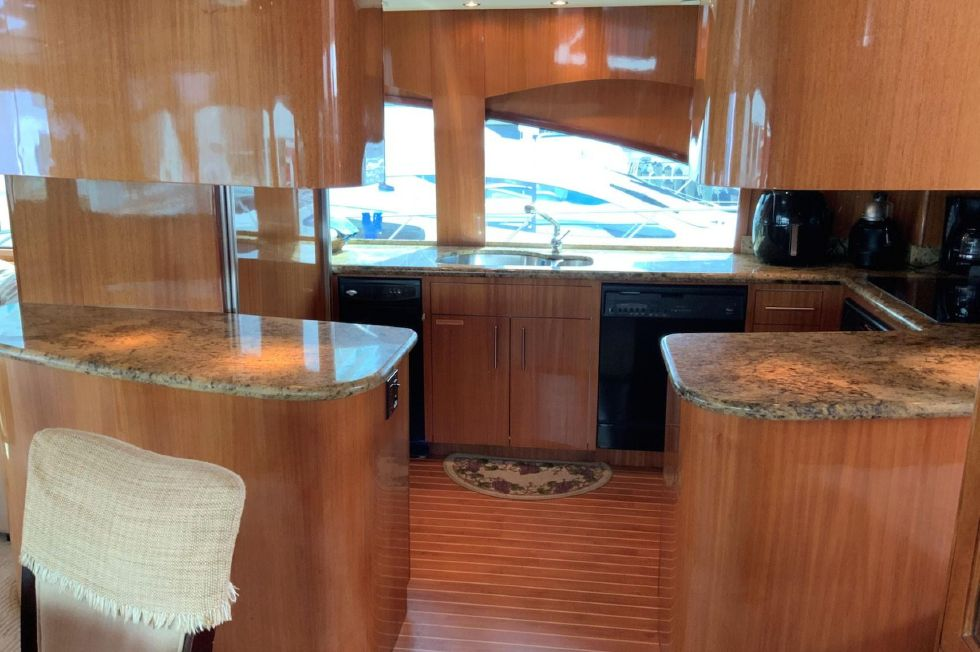 2004 Hatteras Motor Yacht - Galley