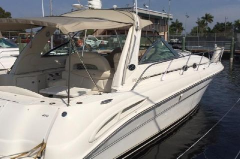 2003 Sea Ray 410 Express Cruiser - Exterior Starboard at Slip