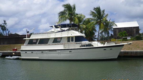 Hatteras Motor Yacht starboard side