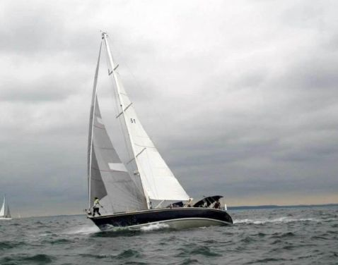 1989 Beneteau First 51 - Riley On A Port Running Tack