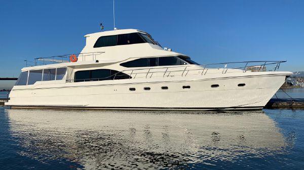 Hampton 740 Yachtfish Skylounge Starboard side