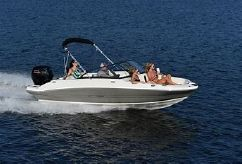 2021 Stingray 191DC Full Windshield W/Side by Side Capt. Chairs