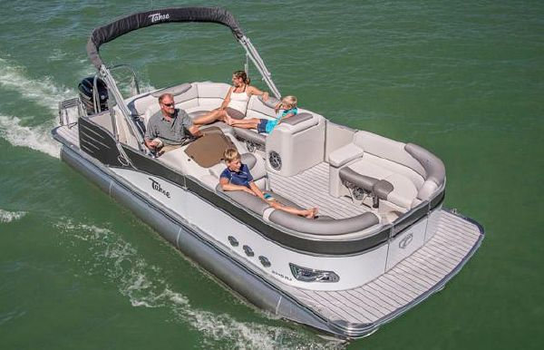 2018 Tahoe Pontoon Cascade Rear J Lounge - 23'