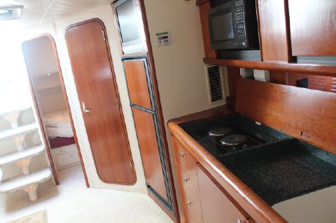 Galley looking aft to aft stateroom