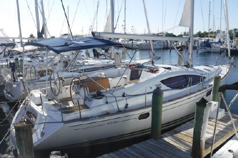 2012 Jeanneau 45DS - At dock