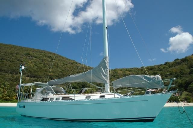 1992 Freedom 38 Sloop - Freedom 38 in the BVI's