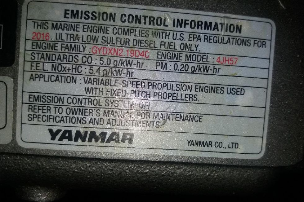 Engine plate - emission