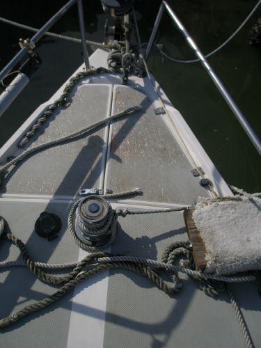 1987 CATALINA YACHTS 34 Sloop Wing Keel Tall Rig (1998 Yanmar) - Pulpit