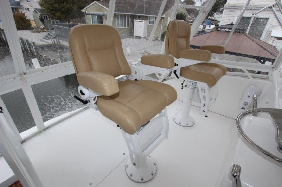 2004 Viking 56 Convertible - Deck 6 - Helm Chairs