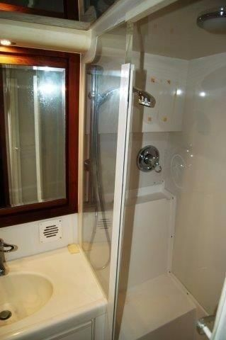 1997 Bertram 36 Convertible - Head shower stall