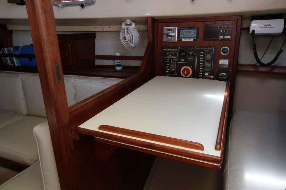 Nav Station table up, Folds down