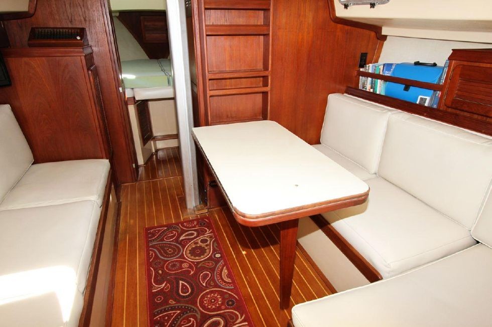 Dinette dropped down off bulkhead