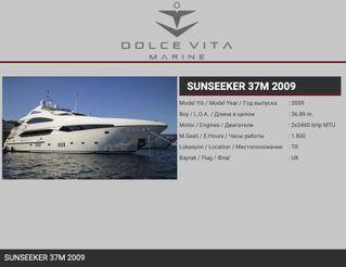 2009 Sunseeker 37 Metre Yacht