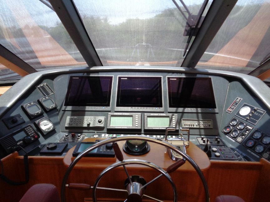 West Bay Sonship 58 Yacht Pilothouse Electronics