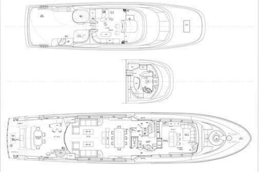 2016 Westport Raised Pilothouse Motoryacht - Layout