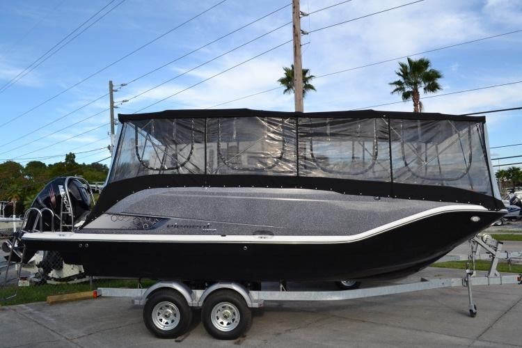 FULL ENCLOSURE BIMINI AND SCREEN KEEPS YOU BUG FREE!