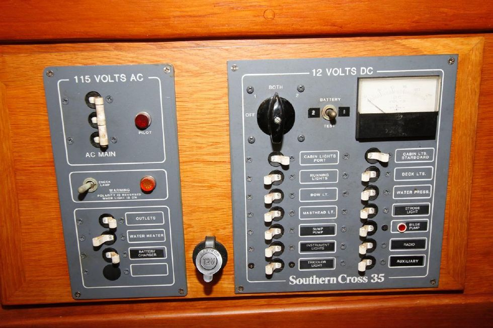 1982 Southern Cross 35 Cutter - Electrical Panel 12Vdc/110Vac