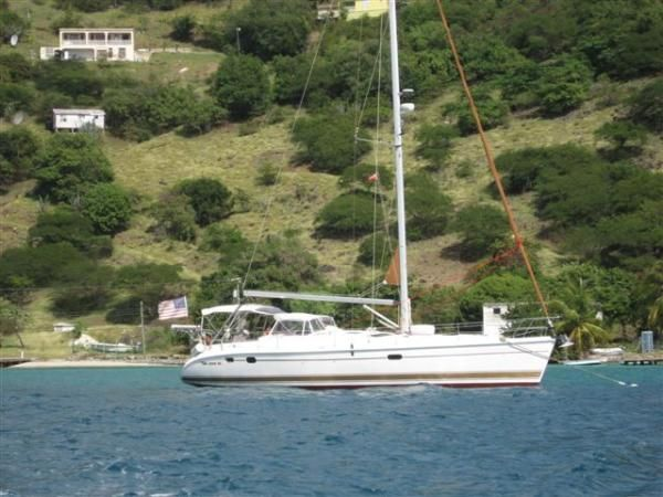 2004 Hunter 466 bow thruster - Moored in the BVI's