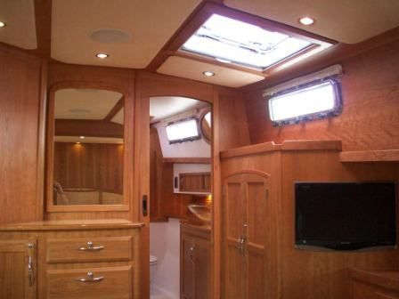 2008 Sabre 52 Salon Express - Master Stateroom TV & Storage