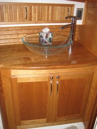 2008 Sabre 52 Salon Express - Master Head Sink & Storage