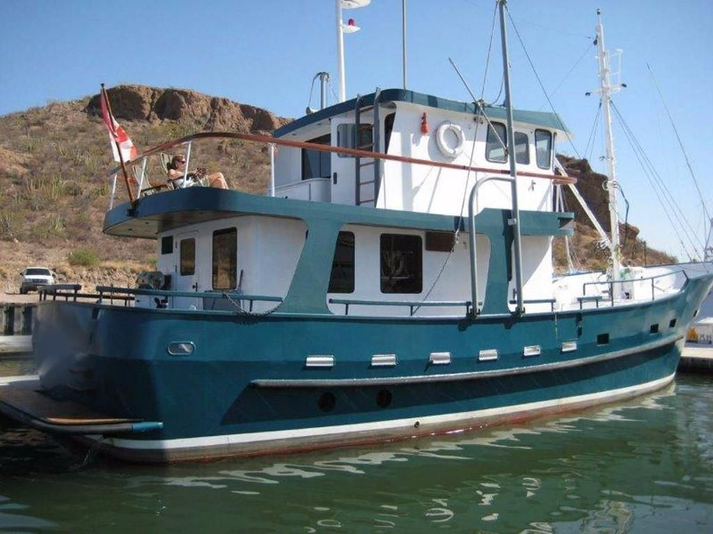 1996 custom north sea trawler power boat for sale www for Fishing boats for sale by owner