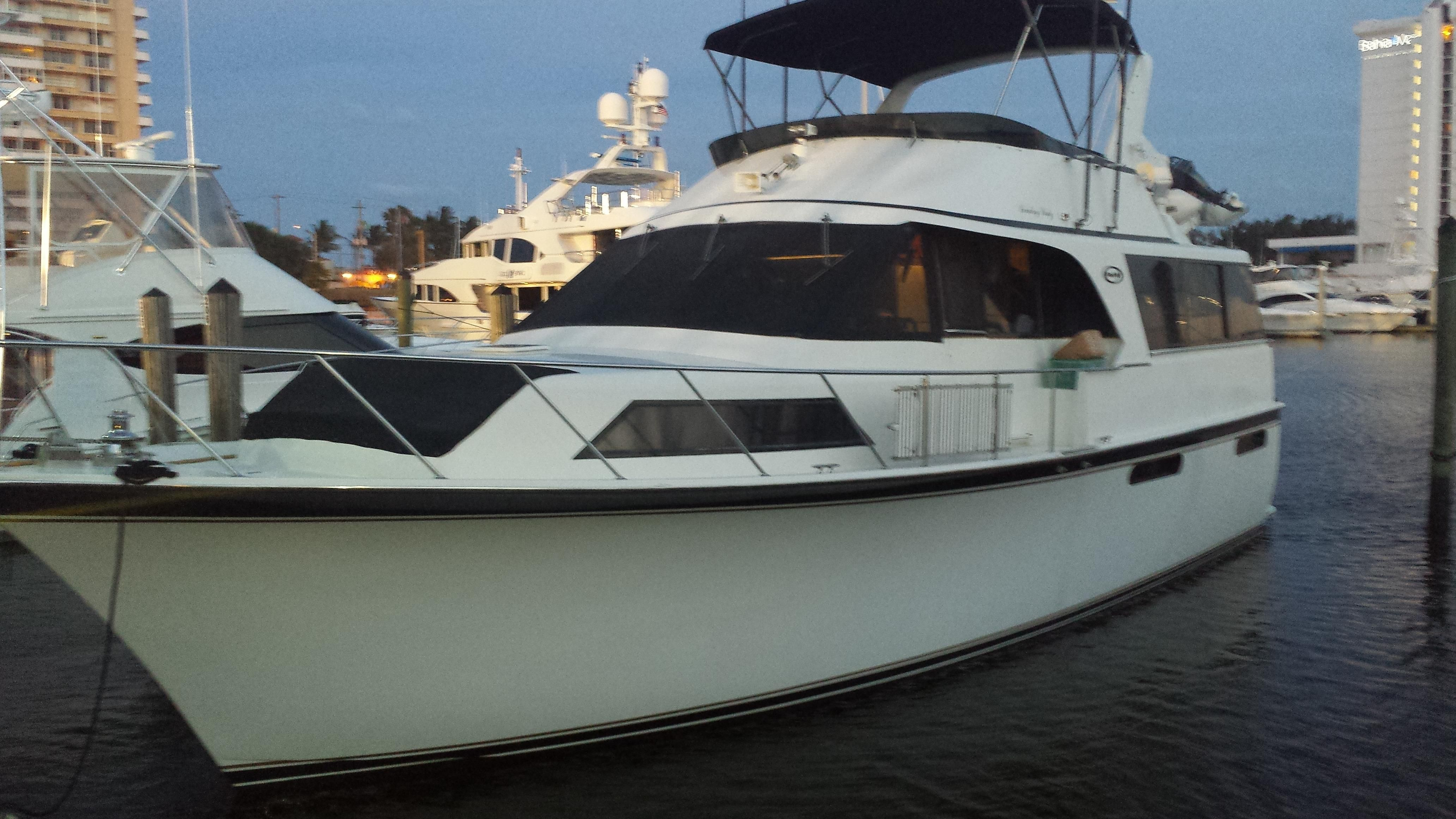1989 ocean 48 motor yacht power boat for sale www