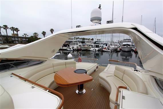Riva 59 Mercurius Luxury Yacht Cockpit Lounge Area