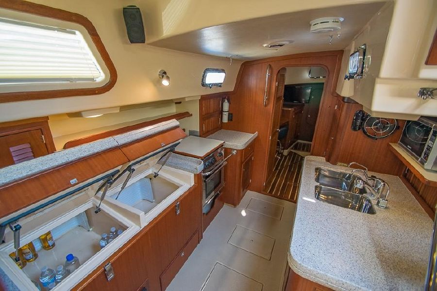 Island Packet 485 Sailboat Kitchen