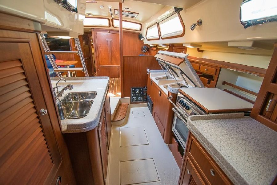 Island Packet 485 Sailboat Galley
