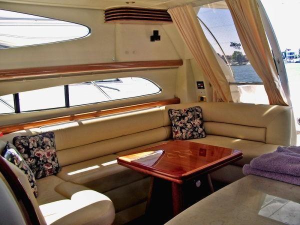 Sealine T47 Yacht Salon Sofa