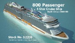 1988 Modern Cruise Ship-800 Passengers -Stock No. S2200