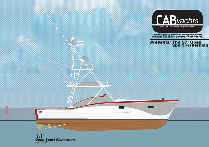 37 ft 2014 cab yachts 370 open sport fisherman