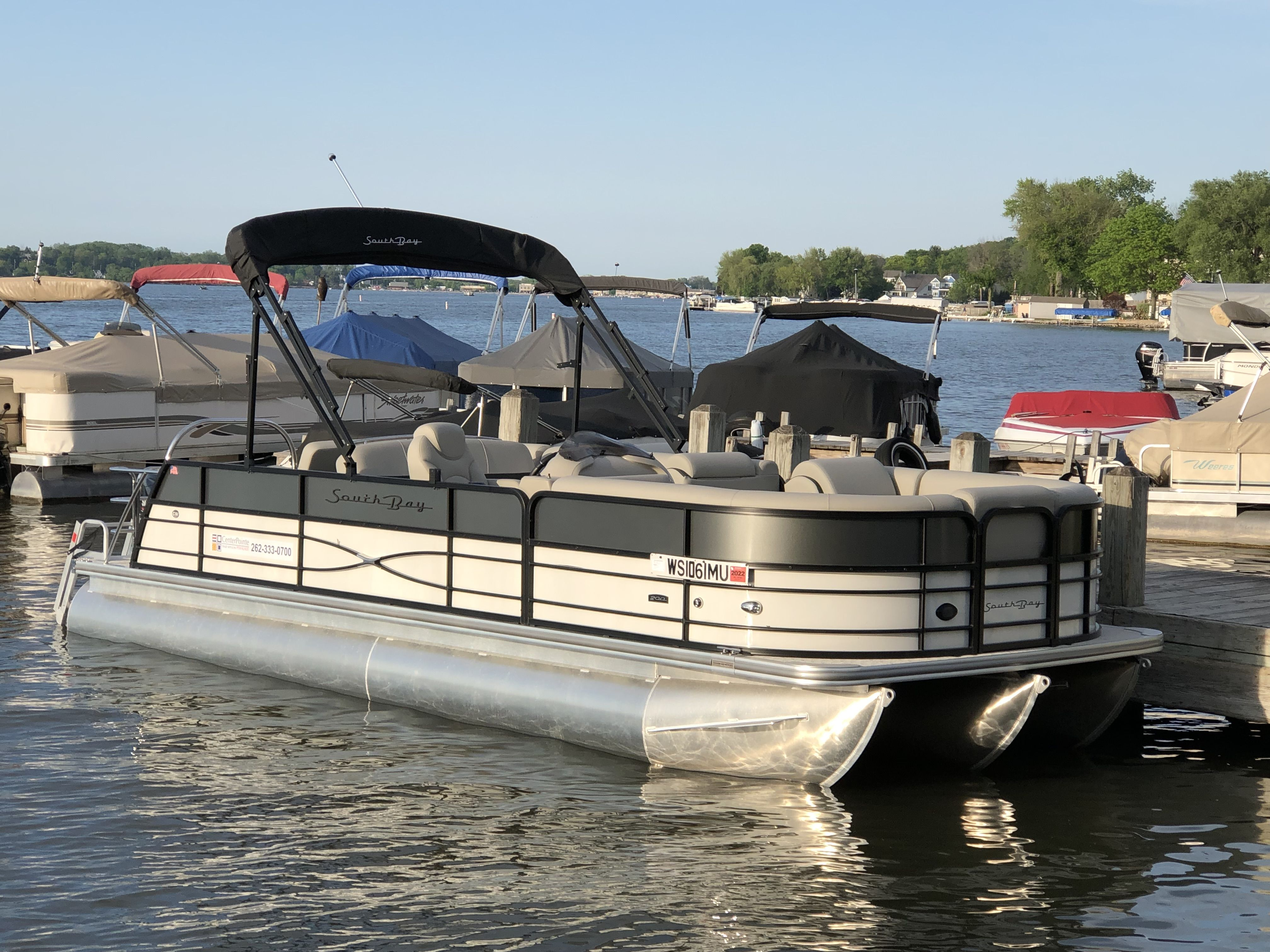 2019 South Bay 224SB2-BED BT  Tri-Toon Power Boat For Sale