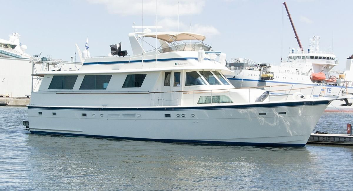 1987 hatteras 63 motor yacht power boat for sale www