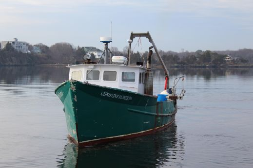 1982 Lobster Boat Off Shore