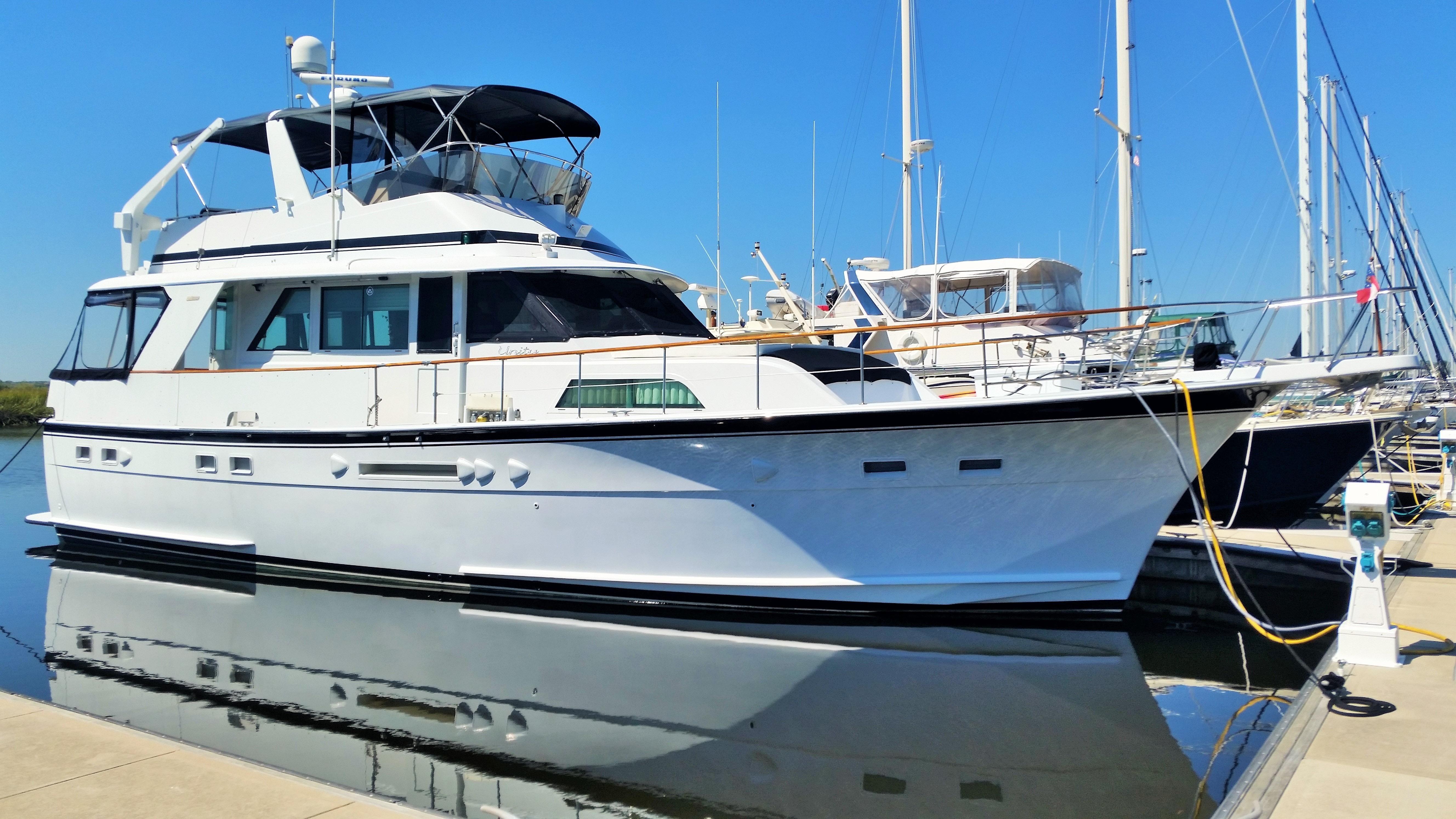Motor Yacht: 1987 Hatteras 53 Motor Yacht Power Boat For Sale