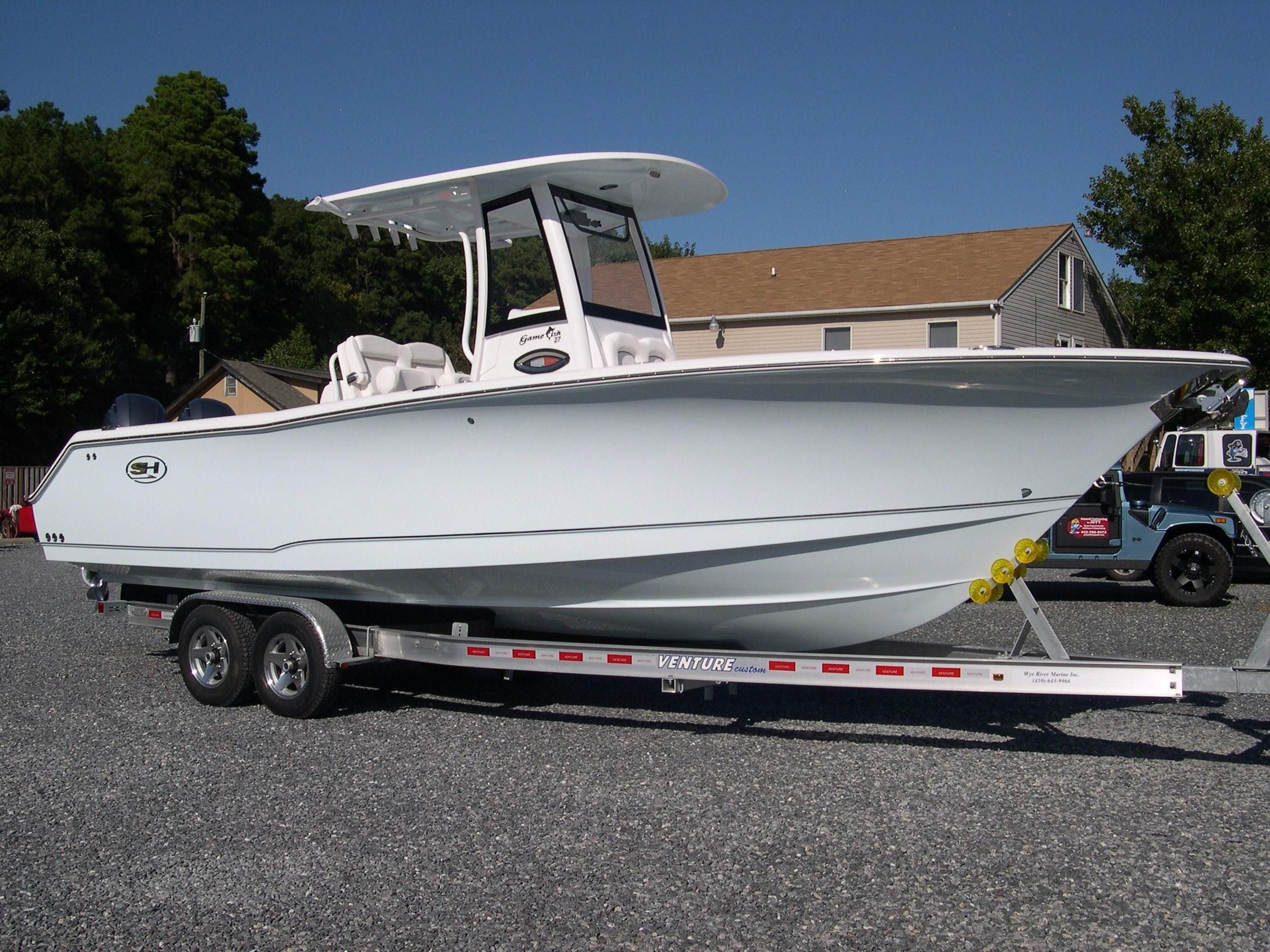 2018 sea hunt gamefish 27 coffin box power boat for sale for Boat mailbox