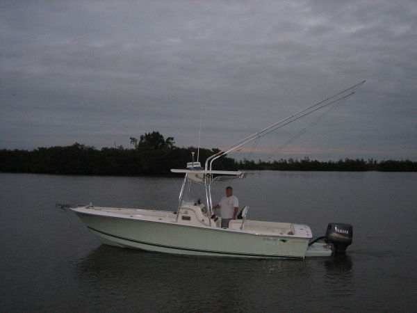24 ft 1998 silverhawk 24 outboard center console
