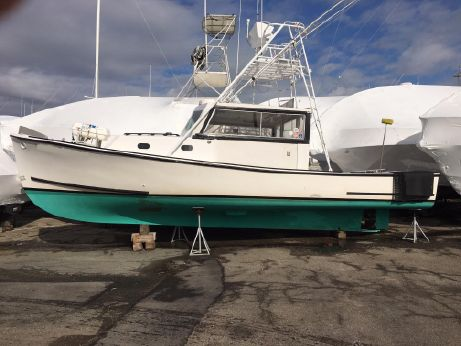 1979 Bruno Stillman Downeast Lobster Boat - Solid Fiberglass Hull - Fishing Charter Party Boat