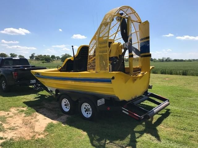 2001 Custom 16 ft Airboat Power Boat For Sale - www