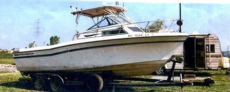 1986 Grady White 240 Offshore Hard Top