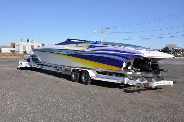 Hustler 377 powerboat for sale confirm