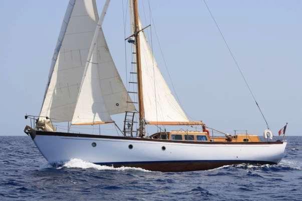 1958 Veronese Bermudan Cutter Rigged Motor Sailer Sail