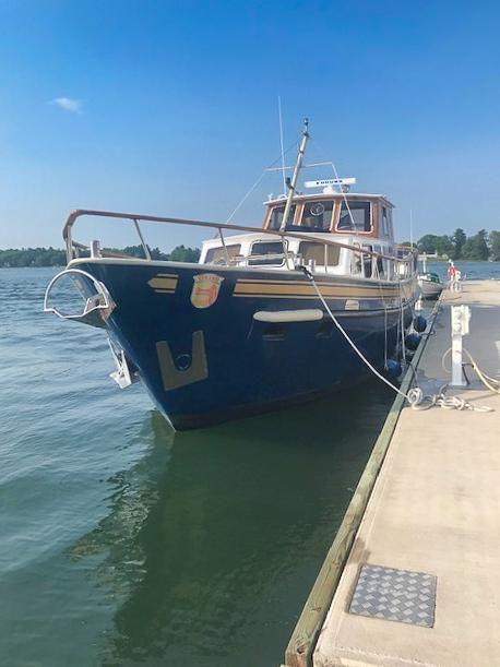 1986 custom de viking 49 pilothouse trawler