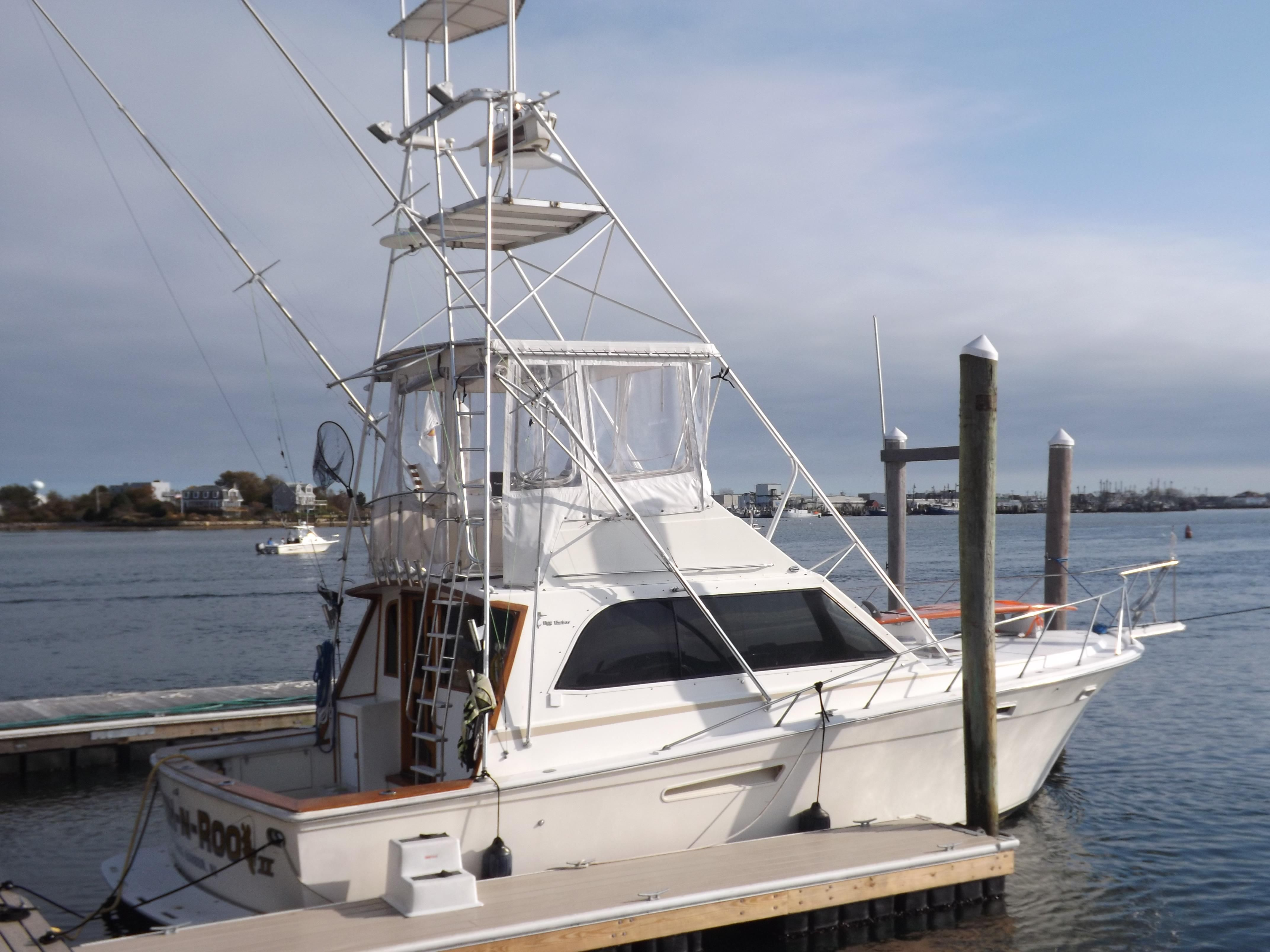 1985 egg harbor 37 convertible power boat for sale www for Sailboat outboard motor size calculator